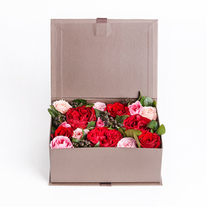 BROWN FRESH FLOWER BOX
